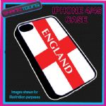 FITS IPHONE 4 / 4S PHONE ENGLAND ST GEORGES FLAG EMBLEM PLASTIC COVER